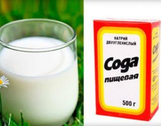 Рецепт приготовления молока с содой от кашля